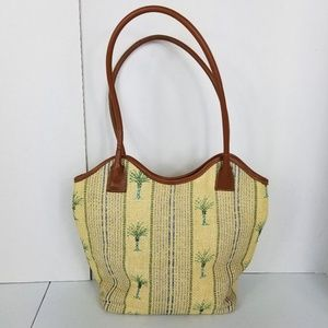 3/$25 Cappelli Straw Palm Tree Print Summer Bag